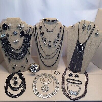 $ CDN12.58 • Buy AWESOME Vintage Mod Black And Silver LOT Some Signed Sarah, A & Z Sterling, NY +