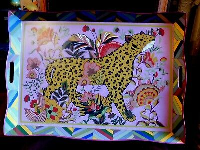 $176.50 • Buy Mackenzie-child's Toleware Paradise Collection,large Leopard Tray,new