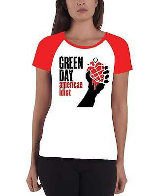 £14.95 • Buy Green Day T Shirt American Idiot Band Logo Official Womens Super Skinny Fit
