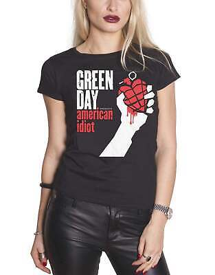 £17.95 • Buy Green Day T Shirt American Idiot Band Logo New Official Womens Skinny Fit Black