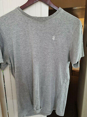 £5.99 • Buy Mens St George By Duffer Grey Cotton Viscose T Shirt Size M 40  Chest Used