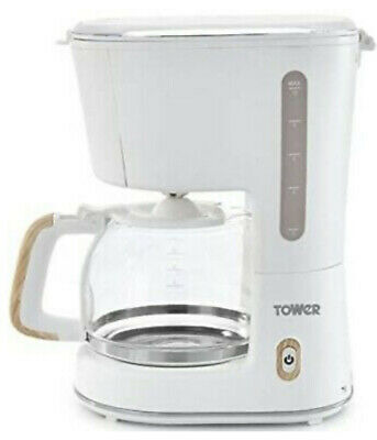 £20 • Buy Tower Scandi T13006 10-Cup Filter Coffee Maker With Anti-Drip Function, Glass