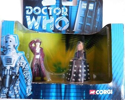 £9.99 • Buy CORGI Doctor Who DR WHO And DAVROS Figure Set 40th Anniversary DIE CAST