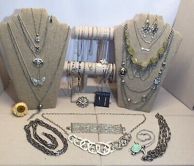 $ CDN12.58 • Buy AWESOME Vintage Mod Silver Tone LOT Some Signed Sterling, Avon, LC +