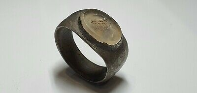 £650 • Buy 0824 .Greek Silver Ring With Intaglio 4th,3rd C. AD