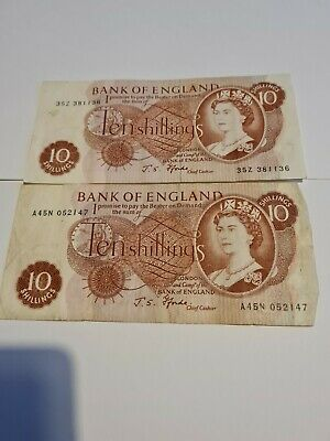£4.99 • Buy Two Old Ten Shilling Notes