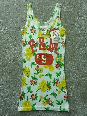 £8 • Buy Franklin & Marshall Floral Vest Top Size Xs Nwt