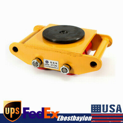 $58.02 • Buy Heavy Duty 360° Machine Dolly Skate Machinery Roller Mover Cargo Trolley 6T USA