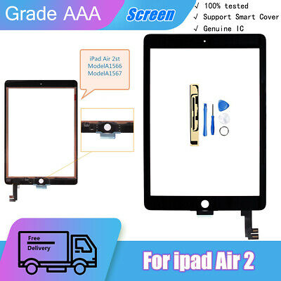 £17.99 • Buy For IPad Air 2 A1566 A1567 OEM IC Screen Replacement Touch Glass Digitizer Black