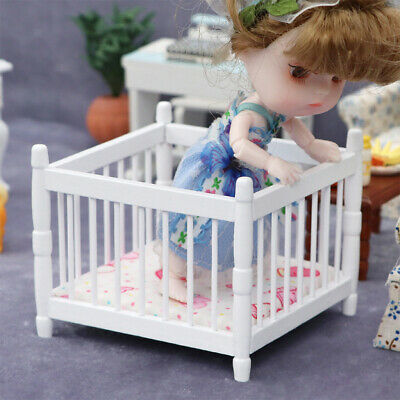 £5.55 • Buy 1/12 Doll House Cradle Miniature Bedroom Furniture Girls Boys Accessories