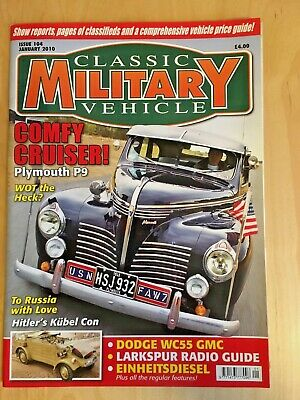 £2 • Buy Classic Military Vehicle Magazine - Jan 2010 Issue 104(very Good Condition)