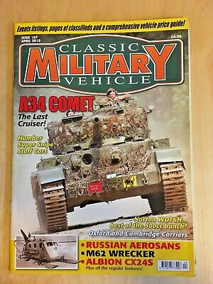£2 • Buy Classic Military Vehicle Magazine - April 2010 Issue 107(very Good Condition)