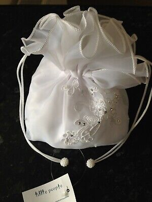 £12 • Buy Little People Designer Childrens White Organza Dolly Bag With Diamante & Pearls