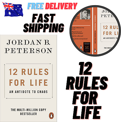 AU15.49 • Buy 12 Rules For Life By Jordan B. Peterson Free Shipping!!!