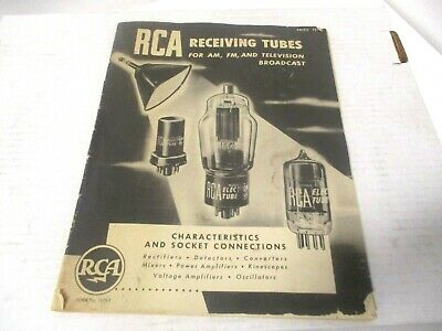 $9.99 • Buy RCA Receiving Tubes For AM FM & TV Broadcast Manual C 1952
