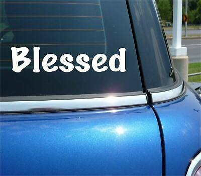 £1.73 • Buy Blessed Religion Christian Funny Decal Sticker Art Car Wall
