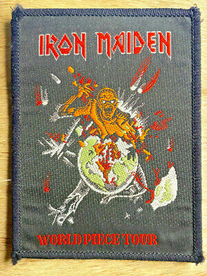 £3 • Buy Iron Maiden Piece Of Mind  World Piece  Tour 1983 Official Authorised Patch