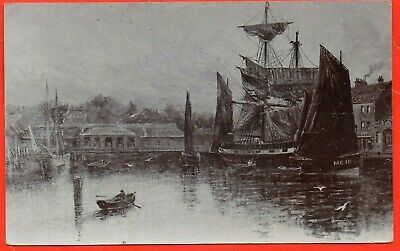 £20 • Buy Whitby Railway Station, Sailing Ship & Harbour, Real Photo. Ross ?  C1906 Rare
