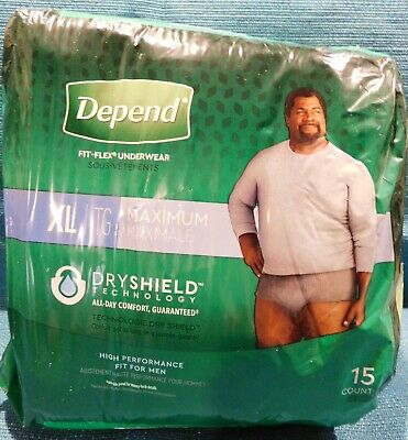 $10.47 • Buy New Sealed Depend Fit-Flex Adult Men's Disposable Underwear X-Large (15 Count)