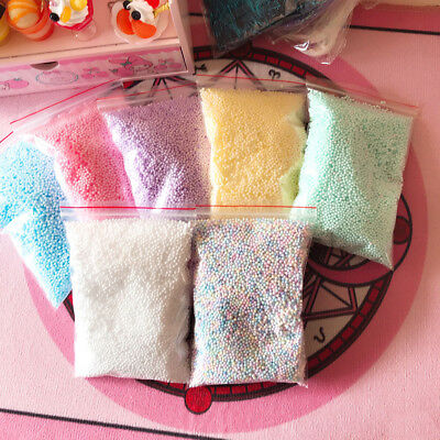 AU2.23 • Buy Warm Color Snow Mud Particles Accessories Tiny Foam Beads Slime Balls Supply3