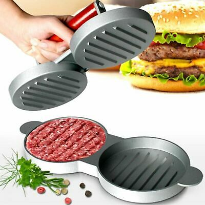 £7.99 • Buy Double Hamburger Beef Burger Quarter Pounder Maker Mould Press Patty Barbecue