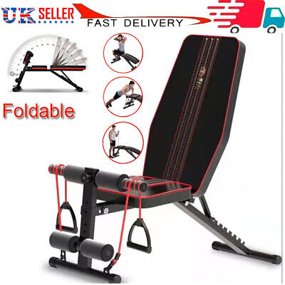 £58.80 • Buy Adjustable Weight Bench Gym Workout Flat Incline Decline Sit Up Lifting Barbell