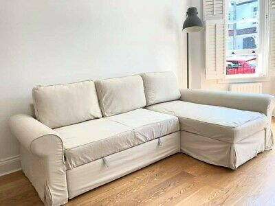£125 • Buy L-Shaped Sofa Bed, With Underneath Storage. Inc Bed Protector. Great Condition