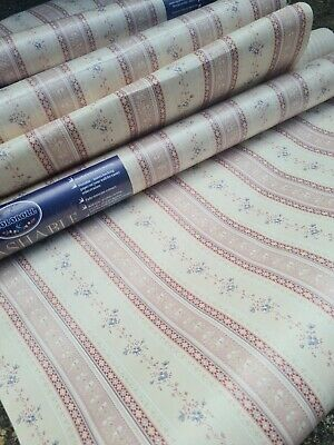 £60 • Buy Vtg 50s 60s 8 Rolls  Pretty Shabby Floral Cottage Chintz Wallpaper Coloroll