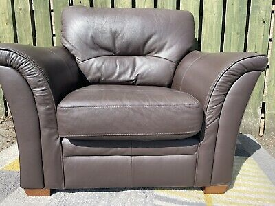 £19 • Buy Marks And Spencers Brown Leather Armchair