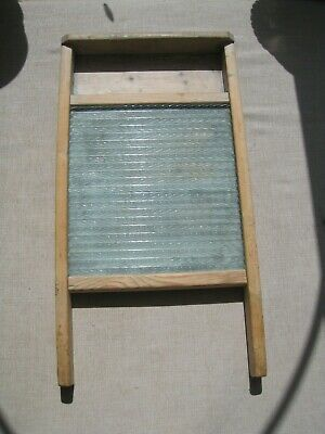 £19.99 • Buy Antique Vintage Wood And Glass Washboard