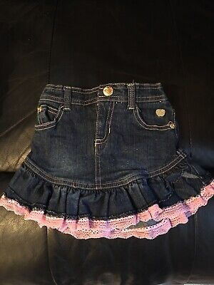 £0.50 • Buy Baby Girls Denim Skirt With Pants Underneath Age 12 Months