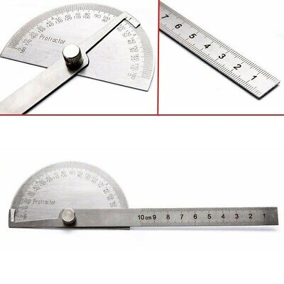 $10 • Buy Stainless Steel 0-180° Rotary Angle Finder Machinist Ruler Metalworking