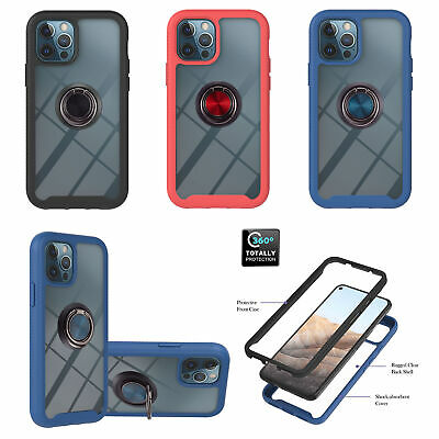AU10.38 • Buy 360 Ring Transparent Armor 3in1 Cover Case For Iphone 11 12 Pro Max 8 Touch 6 7