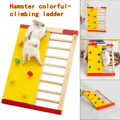 £7.99 • Buy Wooden Hamster Climbing Ladder Colorful Climbling Toy Small Pet Accessories