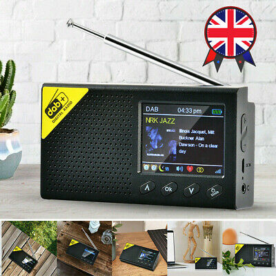 £24.99 • Buy Portable 2.4  LCD DAB+ Radio Digital FM Rechargeable Bluetooth5.0 Music Player