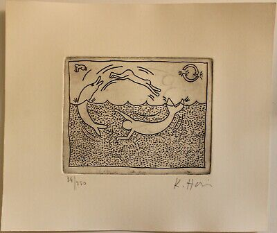 £72.64 • Buy Etching  KEITH HARING  Signed By Hand,gravure,radierung,aguafuerte