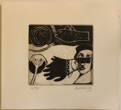 £72.64 • Buy Etching  CORNEILLE Guillaume  Cobra Signed By Hand,gravure,radierung,aguafuerte