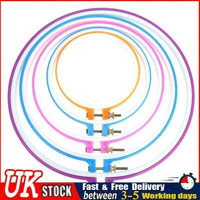 £9.46 • Buy 5pcs Plastic Cross Stitch Embroidery Hoop Ring Craft Sewing Machine Frame ✧