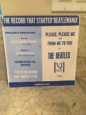 £7.19 • Buy The Beatles  Vee Jay 581  Please, Please Me / From Me To You  New Paper Sleeve