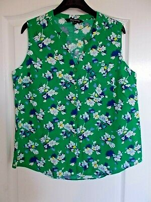 £6.49 • Buy New Bright Green Floral Cotton Blouse Size 12 From Bonmarche