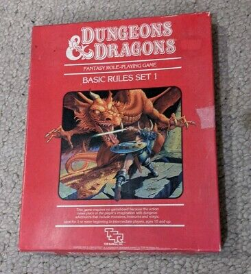 AU142.33 • Buy Dungeons And Dragons Red Box Basic Rules Set 1 1983 TSR 1011