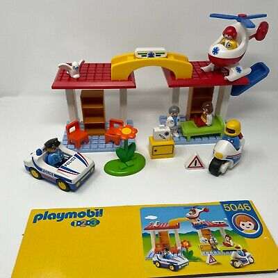 £19.99 • Buy Playmobil 1•2•3 Play Set 5046 Hospital With Paramedics Police Officers Cars Bike
