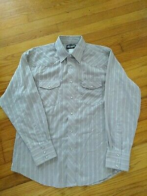 $10.20 • Buy Vintage Rare Wrangler Men's Western Pearl Snap Shirt Purple Embroidered Size L