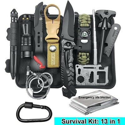$31.99 • Buy 13 In 1 Outdoor Emergency Survival Kit Camping Hiking Tactical Gear EDC Tools