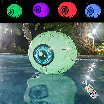 $ CDN25.90 • Buy Halloween New Inflatable Remote Control 16-Inch LED Luminous Eyeball Colorful