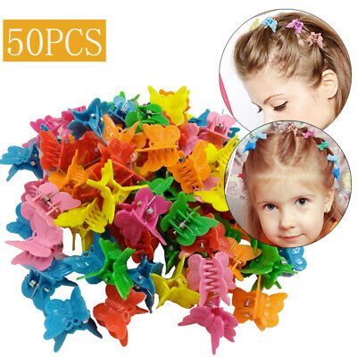 £4.29 • Buy 50pcs Butterfly Hair Clips Mini Claws Barrettes Clamps Jaw Baby Show Headwear