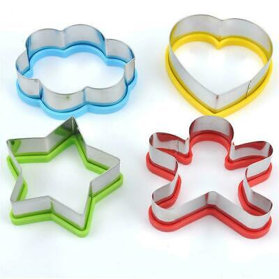 £5.15 • Buy 4pcs Kids Sandwich Cutter Shapes Egg Cookie Pastry Baking Stainless Steel H