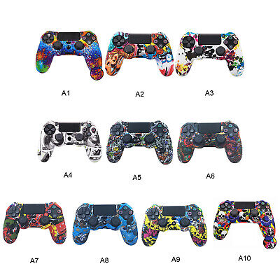 AU13.99 • Buy Case Skin Covers For Sony PS4 Controller Silicone Rubber Gel Grip Handle Console