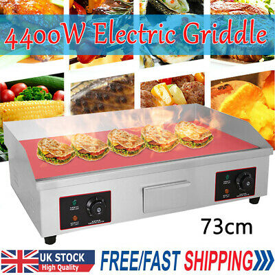£175.98 • Buy 4400W Electric Griddle Hotplate Grill Hot Plate Kitchen Countertop Commercial UK