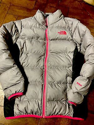 £40 • Buy North Face Down Coat 550 Girls Pink And Grey Size M